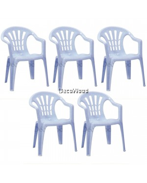Set of 5 Units Solid Strong Restaurant Cafe Hall Plastic Chair With Handle/Dining Chair/Study Chair/Hall Chair/Tuition Chair/Office Chair/Mamak Chair/Kerusi Plastic