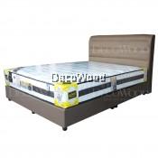 Chocolate Series Swiss Foundation Leather Divan Solid Divan Bed Bedframe Katil