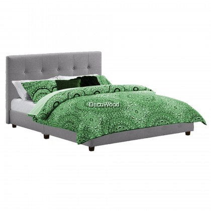 Charcoal Series Swiss Foundation Fabric Divan Solid Divan Bed Bedframe Katil Pre Order 2 Week
