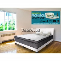 Queen Size Divan Bed Bedframe Sapporo Snow White Divan - White Colour
