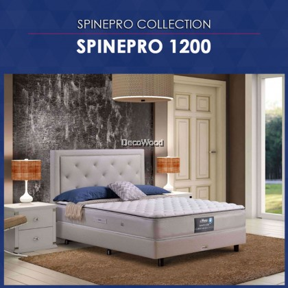 *New 2019 Model* Vono SpinePro 1200 Mattress (15 Years Warranty), Pocketed Intalok Spring 1200, Exclusive SilverGuard™ Treated Fabric, Size: 11.5' Top to Bottom