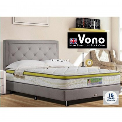 *2019 New Model* Vono SpinePro SE Mattress ( 15 Years Warranty by Vono ), Pocketed Intalok Spring 1200, Size: 11.5' Top to Bottom