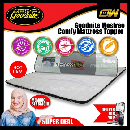 *Improved 2019 Model* Goodnite Mosfree® Comfy Mattress Topper (King/Queen/Super Single/Single)