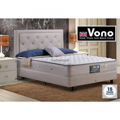 """*2019 New Model* Vono SpinePro 1200 Mattress (15 Years Warranty), Intalok Pocketed Spring Coil 1200, Exclusive SilverGuard™ Treated Fabric, Size: 11.5"""" Top to Bottom"""