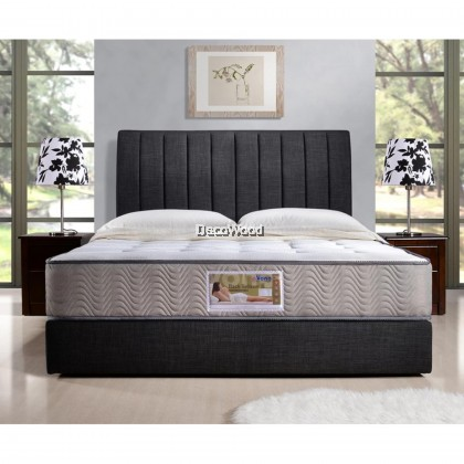 *2019 New Model* Vono Back Relaxer II Mattress (15 Years Warranty), Pocketed Intalok Spring 1200, Bamboo Yarn Fabric With Anti-Bacterial Protection, Size: 9″ Top To Bottom