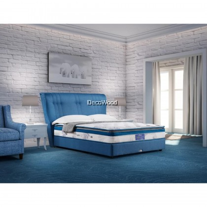 *2019 New Arrival* Vono Ergo Bed Accent ll Pocketed Intalok Spring Coil 1200, Size:12' Top to Bottom ( 15 Years Warranty By Vono )