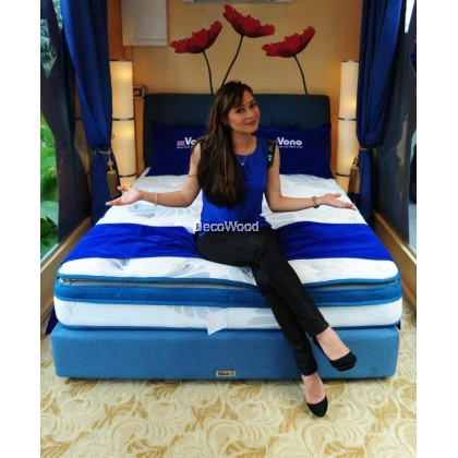 *2019 New Arrival* Vono Ergo Bed Comfort 1 Royal Caribbean Sea - Swiss Foundation Divan BEDFRAME ONLY ( 2 Years Warranty )