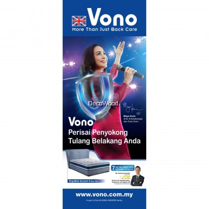 *2019 New Model* Vono Spine Saver 1 Queen Size Mattress - 152cm x 22cm x 190cm (Thickness 9½) - Double Sided Quilted - 15 Years Vono Malaysia Warranty