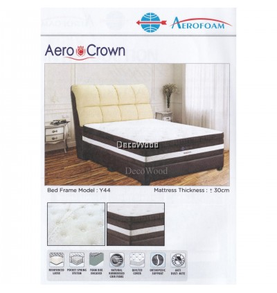 DECO AEROFOAM BY MYLATEX AEROCROWN POCKET SPRING 12 INCH THICK Premium Solid Spring Mattress Mattress Tilam Tidur Nap Bed Mattress With 10 Years Warranty