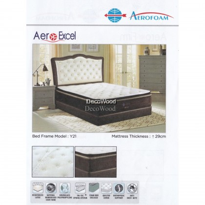 DECO AEROFOAM BY MYLATEX AEROEXCEL POCKET SPRING 11.5 INCH THICK Premium Solid Spring Mattress Mattress Tilam Tidur Nap Bed Mattress With 10 Years Warranty AERO EXCEL