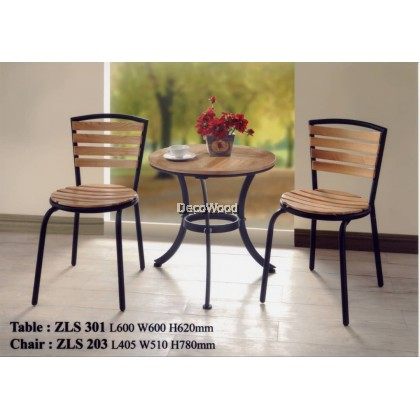 Solid Wood Outdoor Dining Set Garden Set Relax 1 Table + 2 Chair Lounge Set