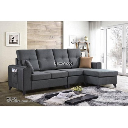 Orlando Sofa L-Shape Fully Fabric Sofa / Lounge Chair / Relax Sofa / Relax Chair / Leather Sofa / Sofa Santai