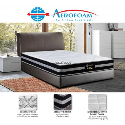 *Latest Model* Mylatex by Aerofoam - 10 Inch Flora Mattress, Bonnel Spring System with Edge Support, Available Sizes (Queen, King, Single, Super Single)