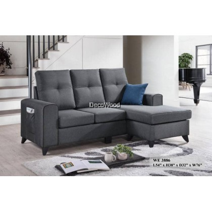 Yulissa Sofa L-Shape Fully Fabric Sofa / Lounge Chair / Relax Sofa / Relax Chair / Leather Sofa / Sofa Santai