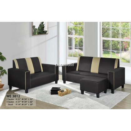 Misha Sofa 2+3 Seater Fully Fabric Sofa / Lounge Chair / Relax Sofa / Relax Chair / Leather Sofa / Sofa Santai