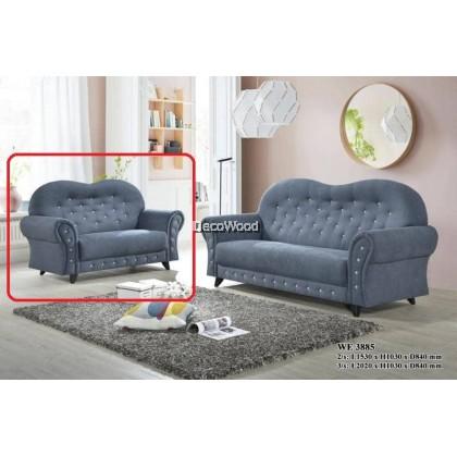 San Francisco Sofa L-Shape Fully Fabric Sofa / Lounge Chair / Relax Sofa / Relax Chair / Leather Sofa / Sofa Santai