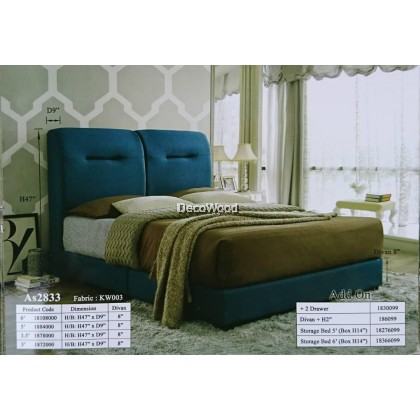 Copenhagen Foundation Divan / Solid Divan Bed / Bedframe / Katil Hotel / 5 Star Hotel Bed - Single / Super Single / Queen / King Size