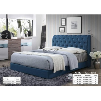 Romania Foundation Divan / Solid Divan Bed / Bedframe / Katil Hotel / 5 Star Hotel Bed - Single / Super Single / Queen / King Size