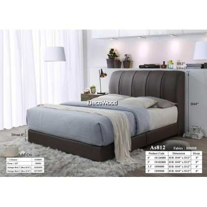 Dubai Foundation Divan / Solid Divan Bed / Bedframe / Katil Hotel / 5 Star Hotel Bed - Single / Super Single / Queen / King Size