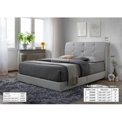 Bristol Foundation Divan / Solid Divan Bed / Bedframe / Katil Hotel / 5 Star Hotel Bed - Single / Super Single / Queen / King Size