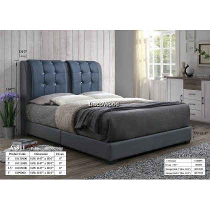 Latvia Foundation Divan / Solid Divan Bed / Bedframe / Katil Hotel / 5 Star Hotel Bed - Single / Super Single / Queen / King Size