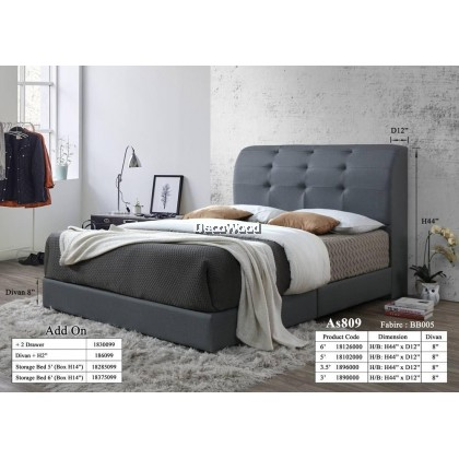 Iceland Foundation Divan / Solid Divan Bed / Bedframe / Katil Hotel / 5 Star Hotel Bed - Single / Super Single / Queen / King Size