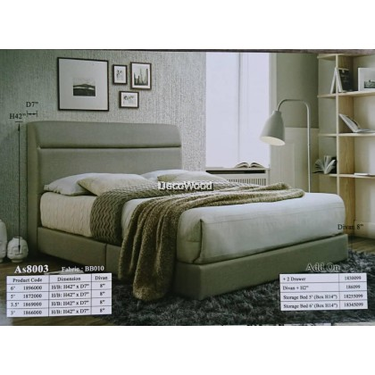 La Vela Foundation Divan / Solid Divan Bed / Bedframe / Katil Hotel / 5 Star Hotel Bed - Single / Super Single / Queen / King Size