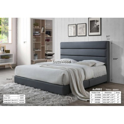 Helsinki Foundation Divan / Solid Divan Bed / Bedframe / Katil Hotel / 5 Star Hotel Bed - Single / Super Single / Queen / King Size