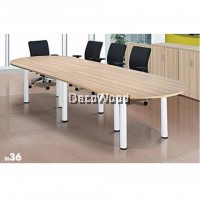 DECO 12FEET CONFERENCE OFFICE TABLE OFFICE DESK OFFICE MEETING TABLE DISCUSSION TABLE WRITING TABLE STUDY TABLE DIRECTOR TABLE BOSS TABLE CLERK TABLE STAFF TABLE CONFERENCE TABLE DINING TABLE RESTING TABLE STAFF TABLE BI36 3600MM(L) X 1200MM(W) X 750MM(H)