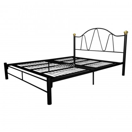Deco 3V Powder Coat Metal Bed Frame BY9021 - Queen Size