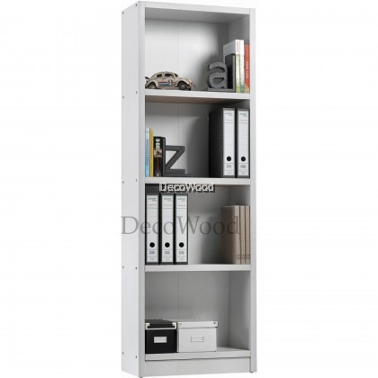 4 Layer Compartment Book Shelf File Cabinet Storage Cabinet Filing Cabinet Office Cabinet Office Rack Office System Cabinet L600MM X W300MM X H1825MM (White Colour)