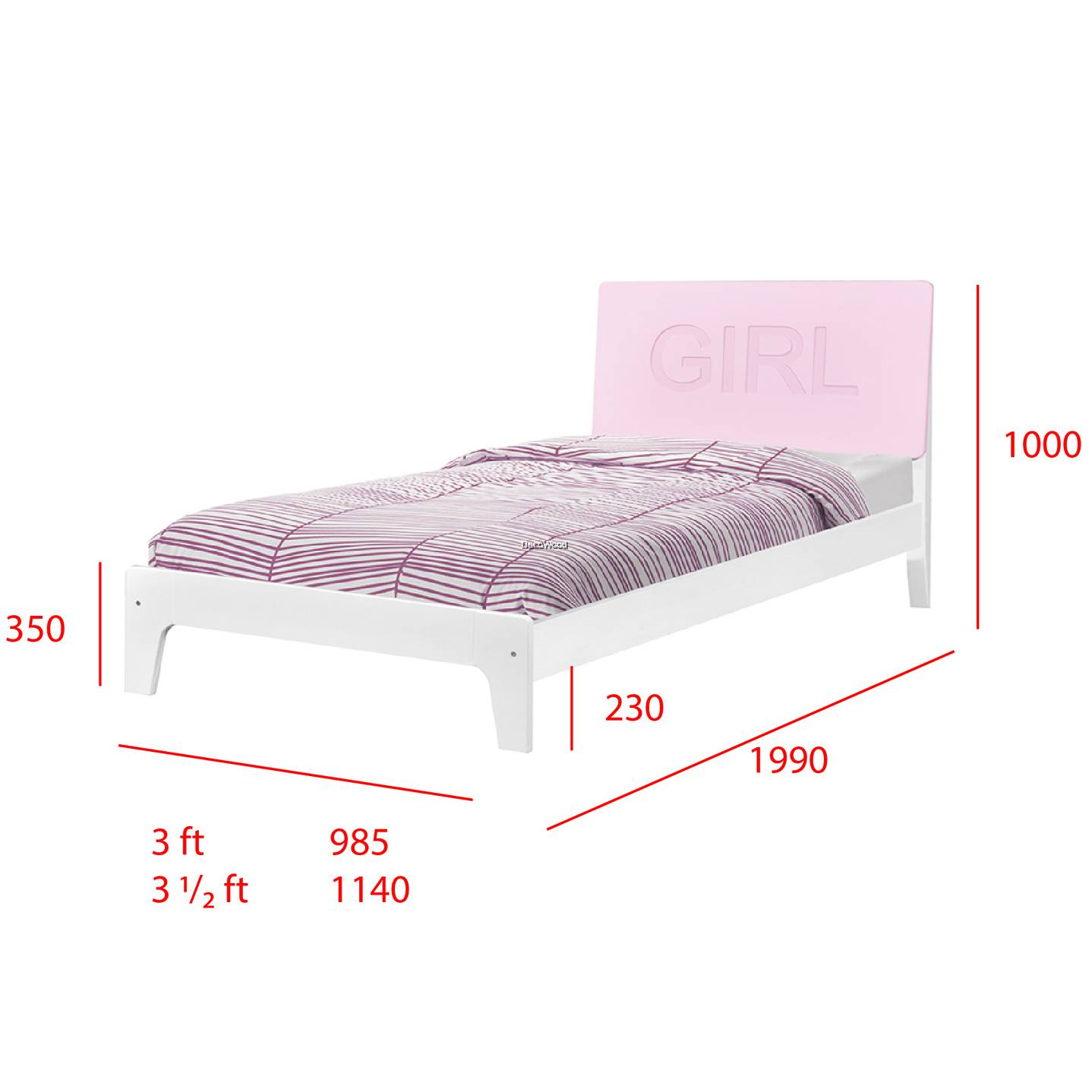 Single Super Single Size Fully Solid Wood Bed Frame Wooden Bedframe Wooden Bed Bed Adult Bedframe
