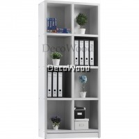 8-Box Compartment Book Shelf File Cabinet Storage Cabinet Filing Cabinet Office Cabinet Office Rack Office System Cabinet L800MM X W300MM X H1825MM (White Colour)