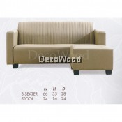 L-Shape Fully Leather Sofa Lounge Chair Relax Sofa Hall Sofa Hall Chair TV Chair TV Sofa L1670MM X W710MM X H890MM Pre Order 2 Week