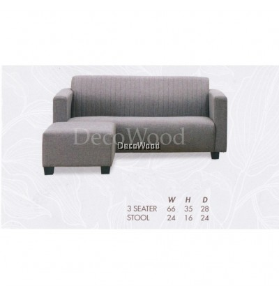 L-Shape Fully Fabric Sofa Lounge Chair Relax Sofa Hall Sofa Hall Chair TV Chair TV Sofa L1670MM X W710MM X H890MM Pre Order 2 Week