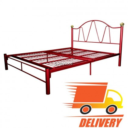 Queen Size Solid Metal Bed Frame Katil Queen (Multi-Color)