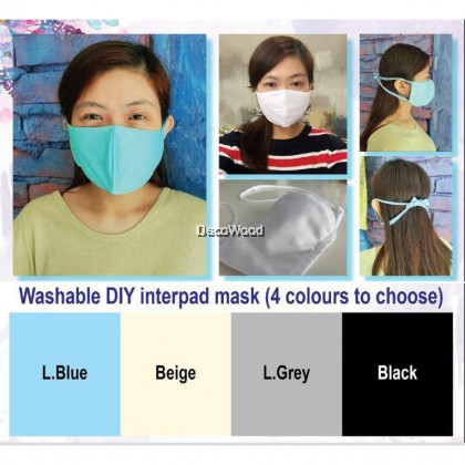 Handmade Unisex Cotton Face Mask (Removable Middle Filter) Prevent Covid-19/ Odour/ Dust
