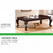 5-Feet Solid Wood Japanese Coffee Table/Lounge Table/TV Table/Side Table/Dining Table/Study Table/Study Desk/Writing Table/Meeting Table  L1500MM X W900MM X H430MM