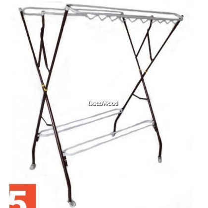 3V 10 Bars (6 + 4 Bars) Anti-Rust Cloth Hanger Drying Rack Outdoor Clothes Hanger Copper Color