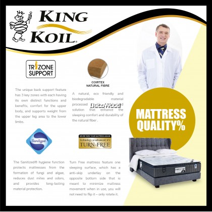 *Free Diamond Dorsett Bedframe* King Koil Prince Collection DIAMOND 13 Inches Pocketed Coil Spring Mattress Tilam With 15 Years Warranty Fattah Amin Duta King Koil