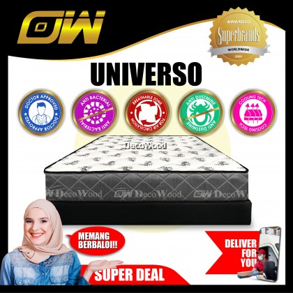 ( Free Shipping T&C Applies ) DW Harmony 10 inch Chiro-Spring Single Size Mattress / Tilam 10 Years Warranty Anti Dustmite [ Fast Delivery ]