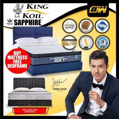*FREE VO SPINEPRO VOBF02 BEDFRAME* King Koil Prince Collection SAPPHIRE 12 Inches Chiropractic Coil Spring Mattress Tilam With 15 Years Warranty Fattah Amin Duta King Koil