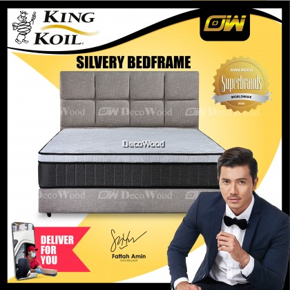 [FREE SHIPPING] Bedframe - SILVERY / King Size / Queen Size / Katil / Katil Queen Bed Frame