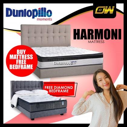 *FREE KINGK FA300 DIAMOND BEDFRAME* Dunlopillo 10.5 Inches Harmoni Klasik Series SuperCOIL Technology Mattress Tilam With Official Dunlopillo 12 Years Warranty