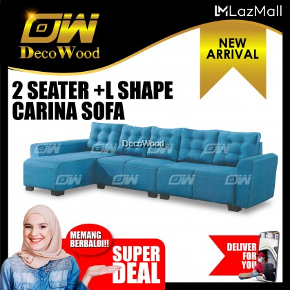 Venus 5 Seater L-SHAPE Sofa Fully Fabric Sofa / Lounge Chair / Relax Sofa / Relax Chair / Fabric Sofa / Sofa Santai RC