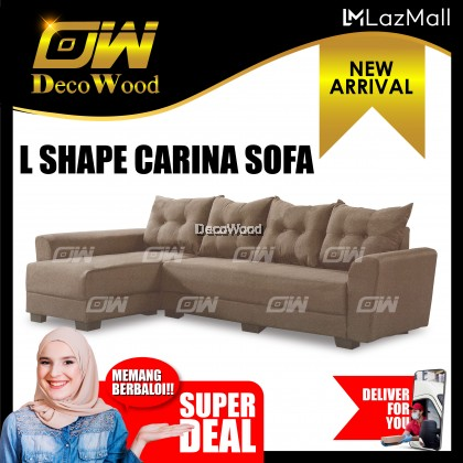Carina L-SHAPE Sofa Fully Fabric Sofa / Lounge Chair / Relax Sofa / Relax Chair / Fabric Sofa / Sofa Santai RC