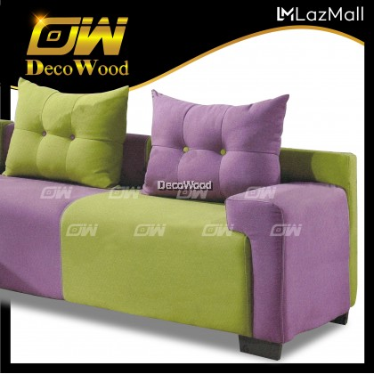 Hannah L-SHAPE Sofa Fully Fabric Sofa / Lounge Chair / Relax Sofa / Relax Chair / Fabric Sofa / Sofa Santai RC