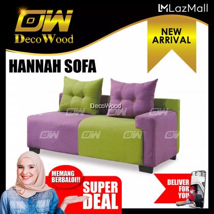 Hannah 2 Seater Sofa Fully Fabric Sofa / Lounge Chair / Relax Sofa / Relax Chair / Fabric Sofa / Sofa Santai RC