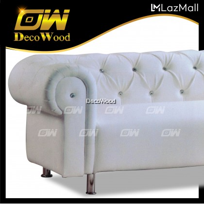 Cabana 3 Seater Sofa Fully Leather Sofa / Lounge Chair / Relax Sofa / Relax Chair / Fabric Sofa / Sofa Santai RC