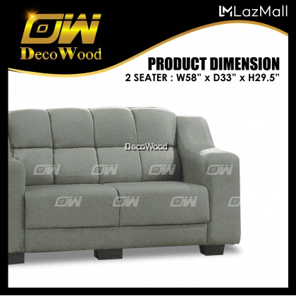 Austin 1 / 2 / 3 Seater Sofa Sofa Fully Leather Sofa / Lounge Chair / Relax Sofa / Relax Chair / Fabric Sofa / Sofa Santai RC